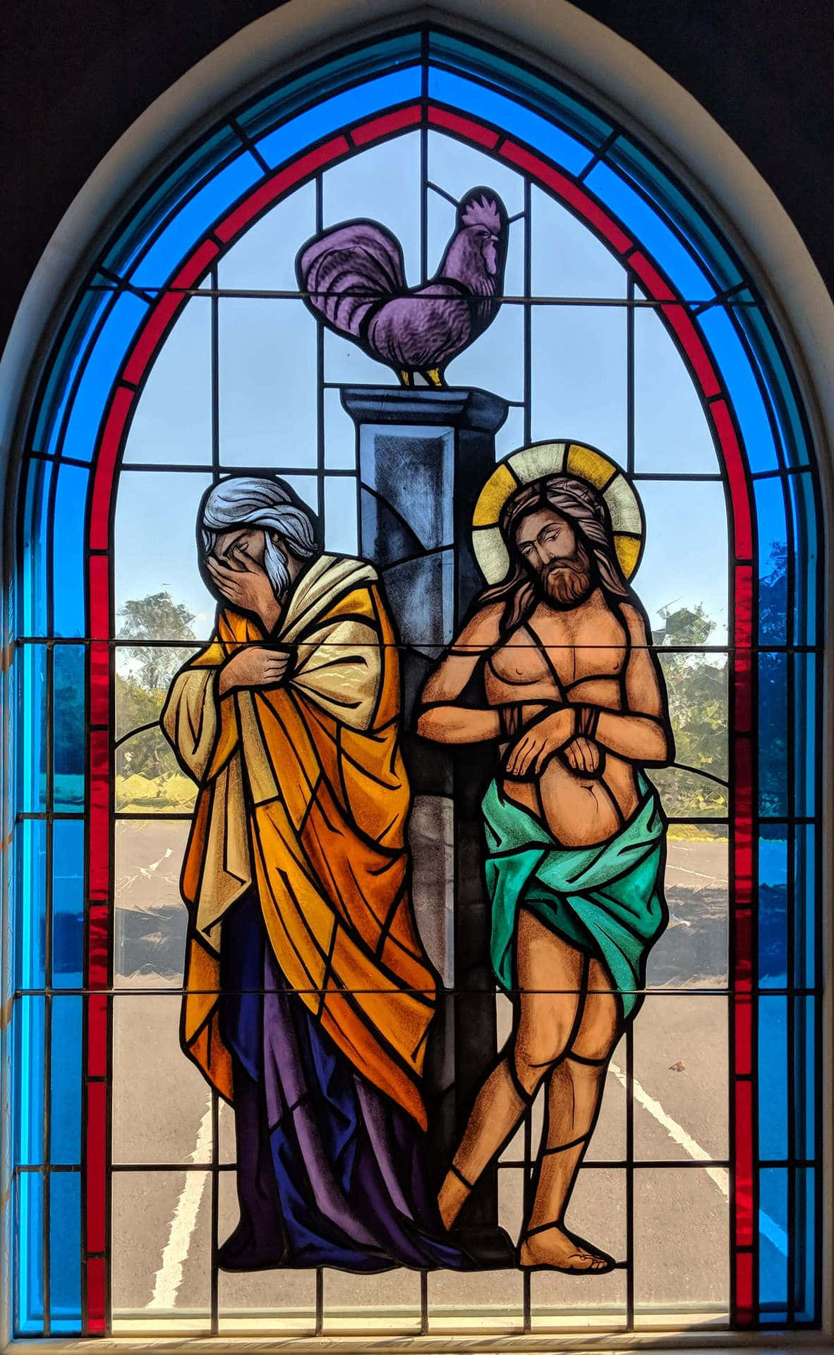 Stained glass in St. Peter Catholic Church